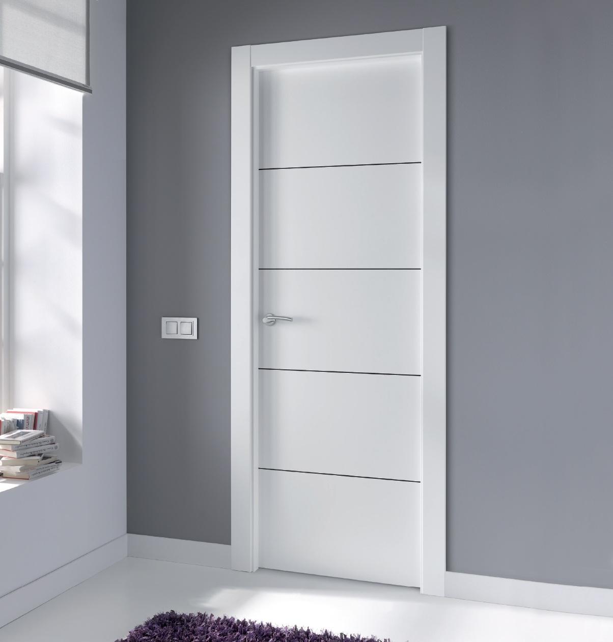 Puertas interior blancas puertas interior plafonadas with - Puertas blancas lacadas precios ...